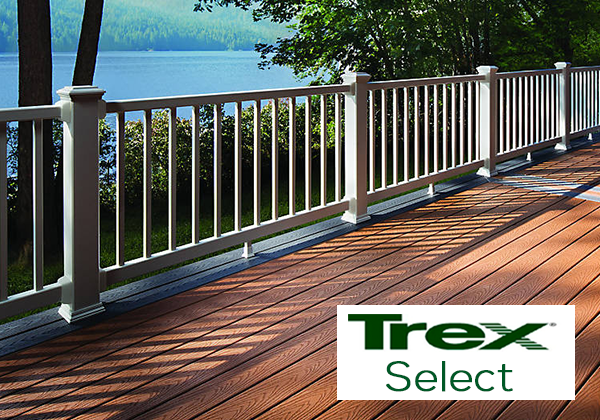 In stock decking building supplies for pa md nj for Composite deck railing