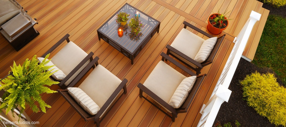 gaf duralife siesta teak hardwood collection overstock pvc coeated composite decking