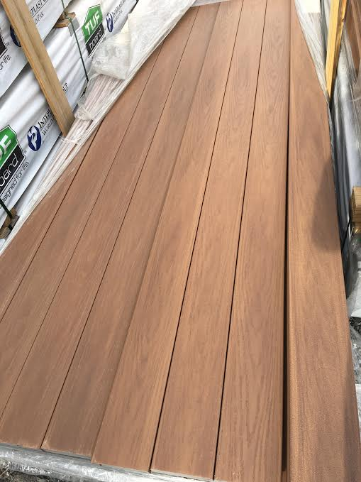 tuf burnished maple pvc decking instock sale