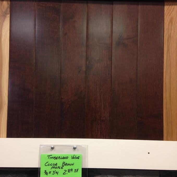 Timberland Value Grade Maple Cocoa Brown Prefinished hardwood flooring - Timberland Value Grade Maple Cocoa Brown Prefinished Hardwood