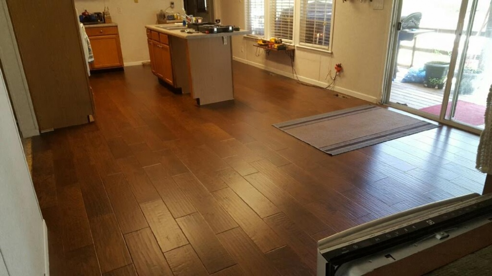 b2w hickory laredo engineered hardwood flooring customer project