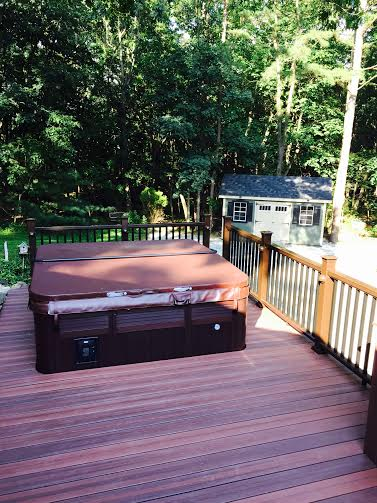 evergrain envisions shaded auburn pvc coated composite decking rettinger and fiberon mission railing