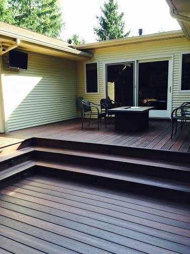 evergrain envisions shaded auburn pvc coated composite decking rettinger