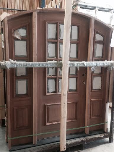 exterior mahogany door w sidelights exterior overstock sale 12 light arch topjpg