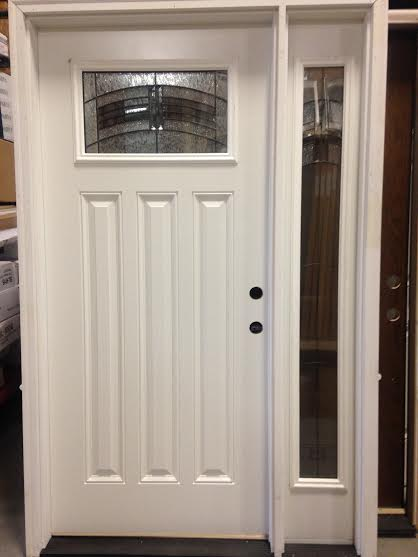 Overstock Feather River Exterior Door W One Sidelight
