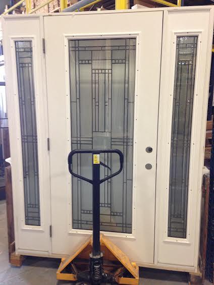 Overstock Feather River Exterior Fiberglass Door Full View