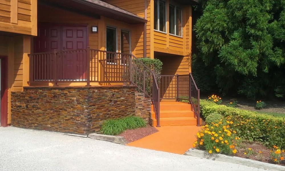 trex reveal bronze railing customer project ironstone building materials