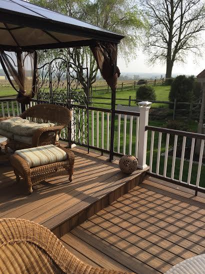 trex transcend havana gold decking and fiberon railing