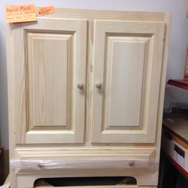 unfinished amish made pine vanity instock