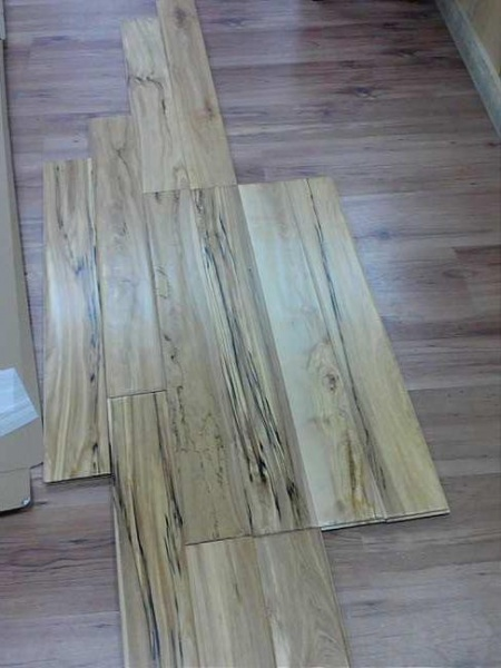 Hardwood flooring natural birch prefinished handscraped for Hardwood floors of lancaster