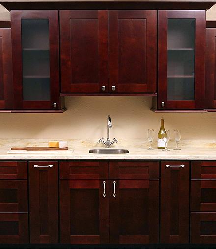 Iks Mocha Shaker Door Kitchen Cabinets RTA All Wood No