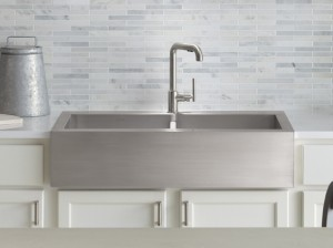kohler apron front stainless steel kitchen sink discount sale insctock