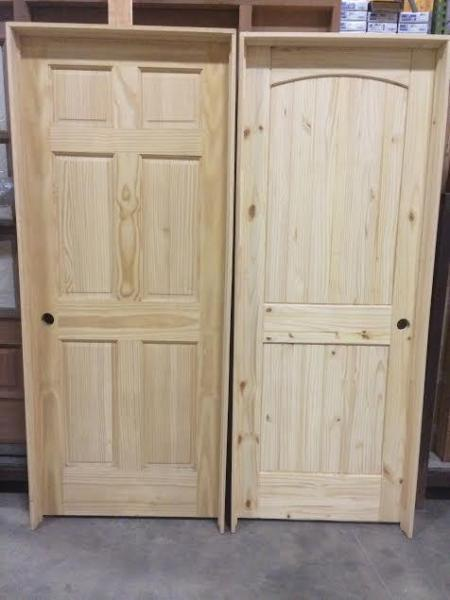 Beau Pine Interior Doors Prehung 6 Panel And Knotty Pine