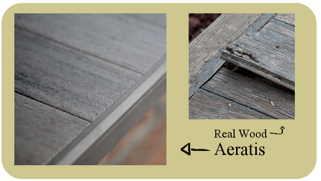real wood and aeratis pvc porch flooring