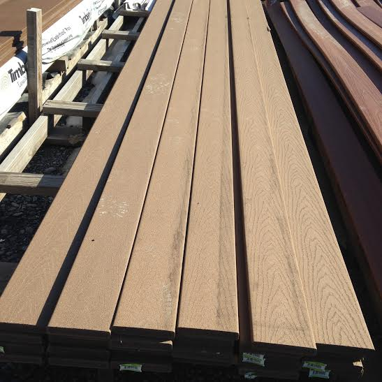Trex accents saddle composite decking building materials for Composite decking sale