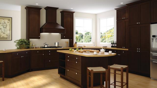 Tsg dark shaker kitchen cabinet pepper shaker rta building material supplies - Rta kitchen cabinets nj ...