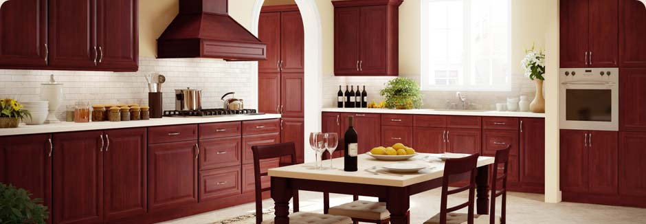 tsg forevermark cherry-glaze rta cabinets discount all wood