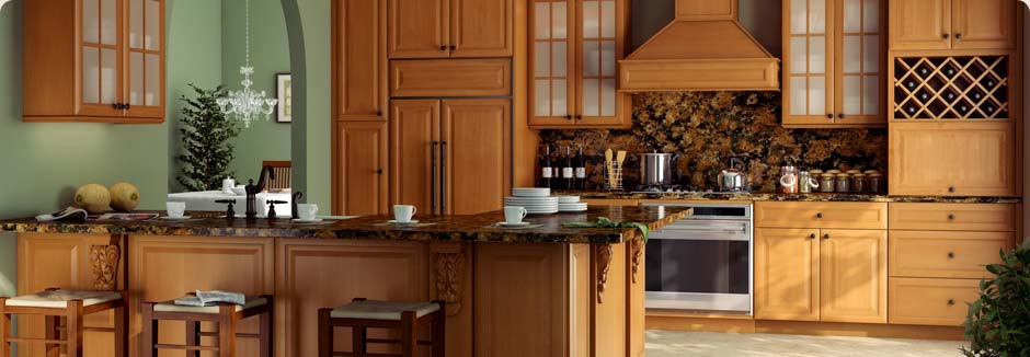 tsg forevermark k series honey-glaze rta cabinets kitchen