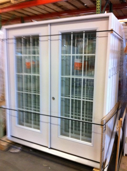 6ft french exterior door fiberglass grilles between the
