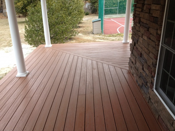 piazza deck pvc decking and columns lancaster pa