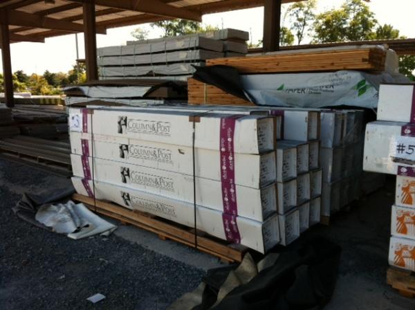 Fiberglass columns wraps building supplies for pa md nj for Fiberglass columns for sale