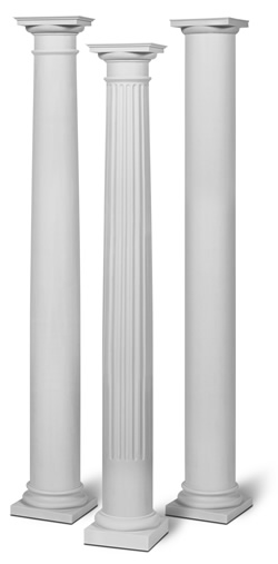 Fiberglass columns wraps building supplies for pa md nj for 10 fiberglass columns