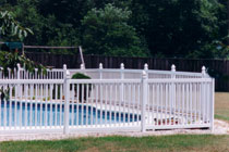 1.5in picket pool code white vinyl fencing longevity