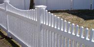 classic picket fence longevity white vinyl