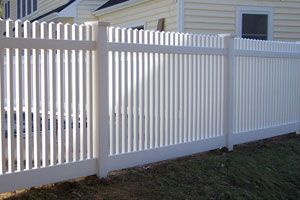 classic picket straight top white vinyl fencing longevity