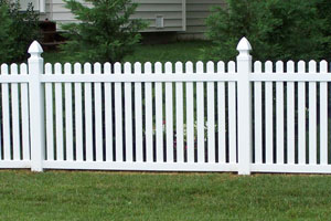 contemporary picket fence longevity white vinyl