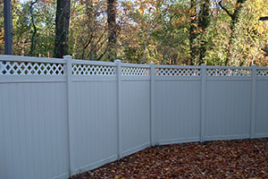 privacy fence with lattice top white vinyl longevity