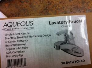 aqueos chrome bathroom vanity faucet sale discount lancaster pa
