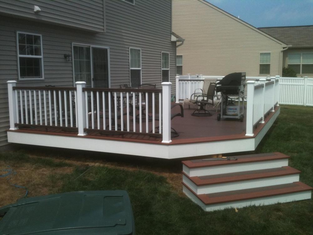 PVC decking canyon brown fireside TimberTech RadianceRail Deck Railing In-Stock