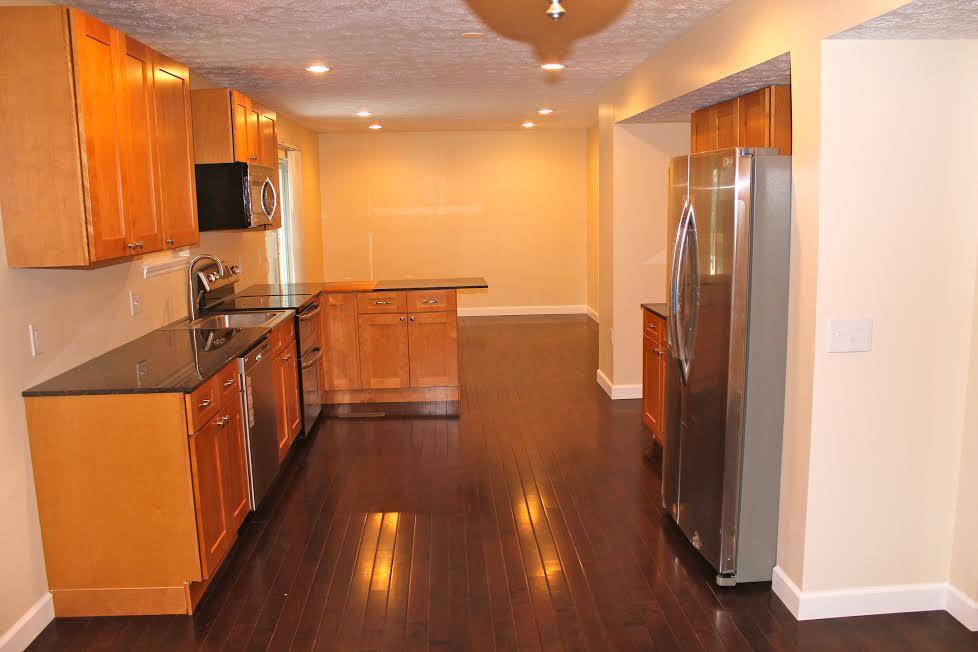 saman kitchen cabinets, granite, flooring