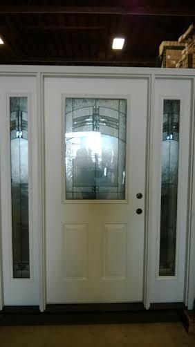 1 Exterior Door W Sidelights Decorative Glass Discount