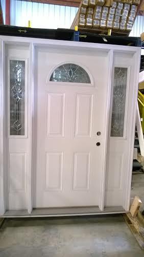 4 Exterior Door W Sidelights Decorative Glass Brand New