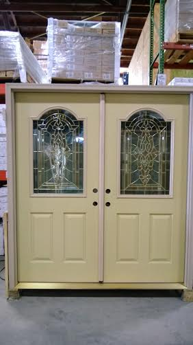 7 Exterior Double Door Decorative Glass Fiberglass