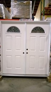 8 Exterior Double Door Half Moon Glass 74in