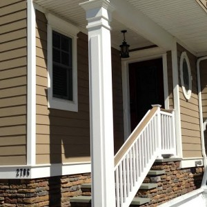 joe seriani fairway cear top railing, stone veneer