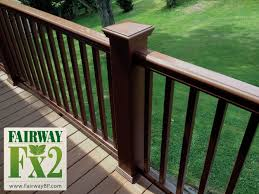 fariway fx2 walnut composite deck railing vinyl sale discount closeout