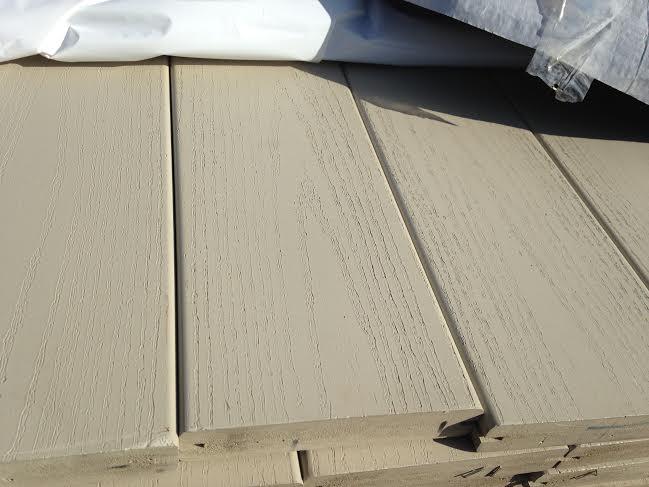 Gossen sand overstock pvc decking deck lumber discount for Vinyl decking materials