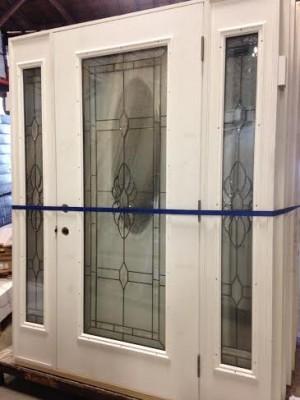 Overstock Feather River Exterior Fiberglass Door Full View With Sidelights