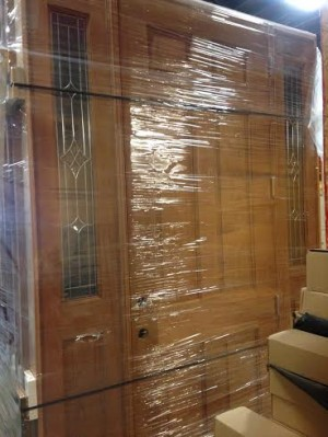 8ft 6panel Solid Wood Front Entrance Doors W Sidelights
