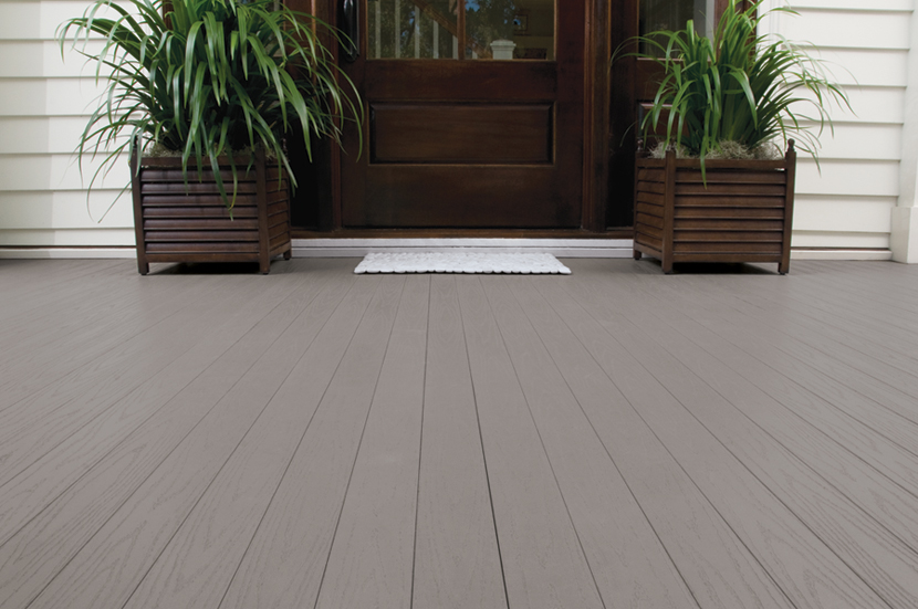 Azek pvc Porch_SlateGray tongue and groove porch flooring