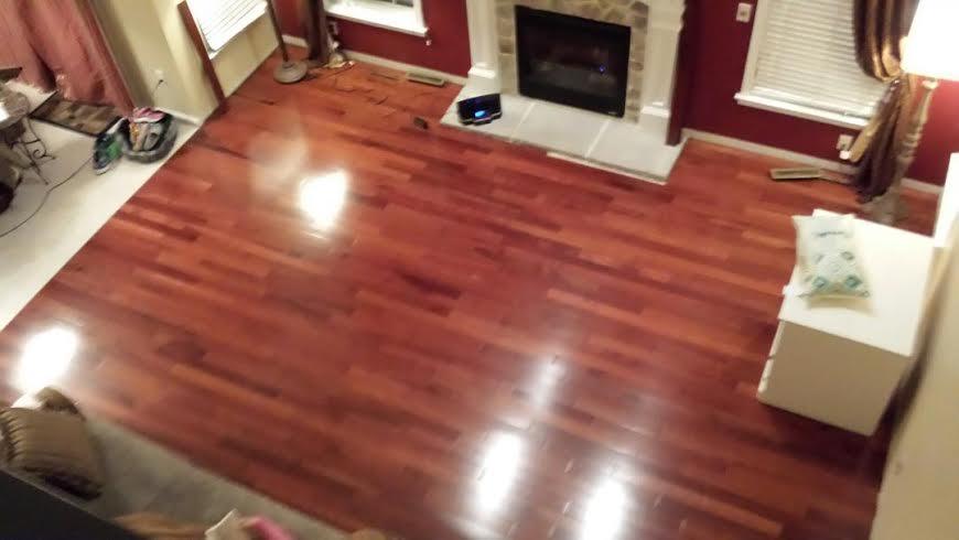 Customer projects building materials supplies for Kempas hardwood flooring