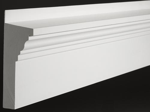Fluted Trim Boards ~ Azek moulding crosshead pediment azm product lr