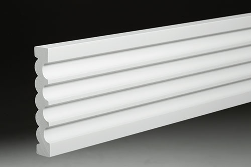 Fluted Trim Boards ~ Azek moulding fluted reeded azm product pvc building