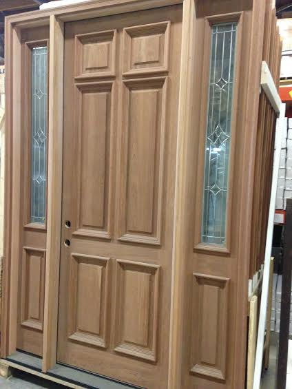 Mahogany Door With Sidelights Overstock 8ft High 6 Panel